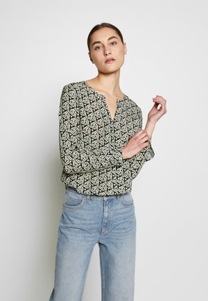 BLOUSE - Blouse - dark leaf/multicolor