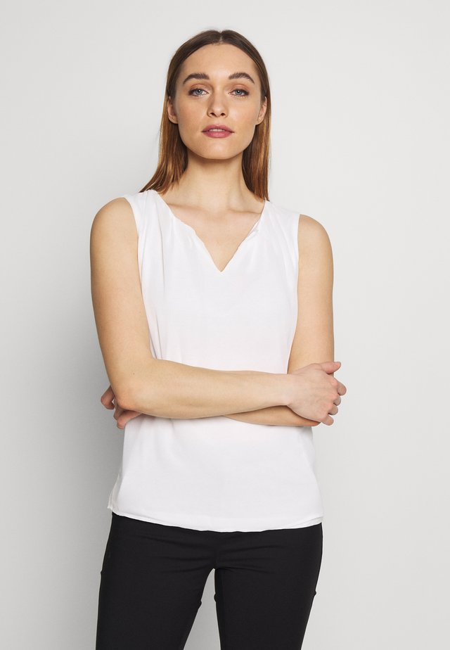 NON SLEEVE - Blouse - off white
