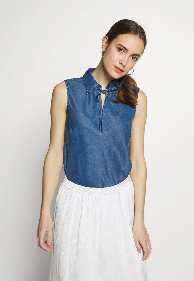 BLOUSE NON SLEEVE - Bluse - denim blue