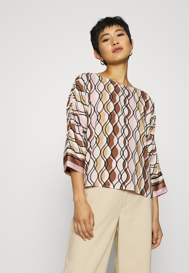 WALLPAPER PRINT BAT WING BLOUS ACTIVE - Blouse - powder creme/multicolor