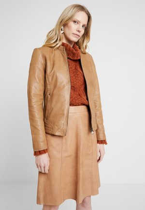 JACKET - Giacca in similpelle - caramel