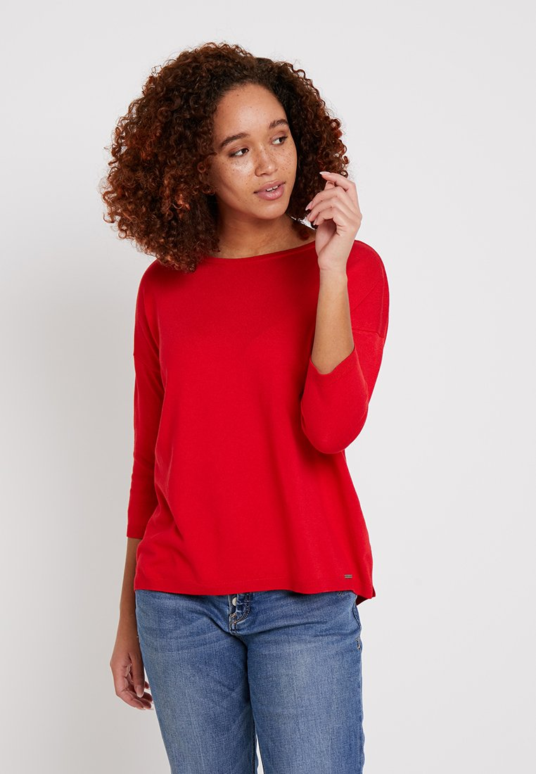 More & More - OVERSIZED - Pullover - tangerine red