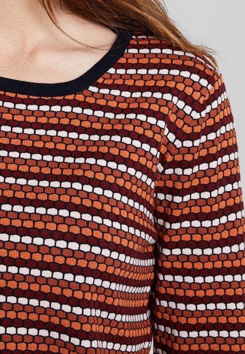 tani More & More Sweter - wine red/multicolor Odzież Damska GPPB-DI6