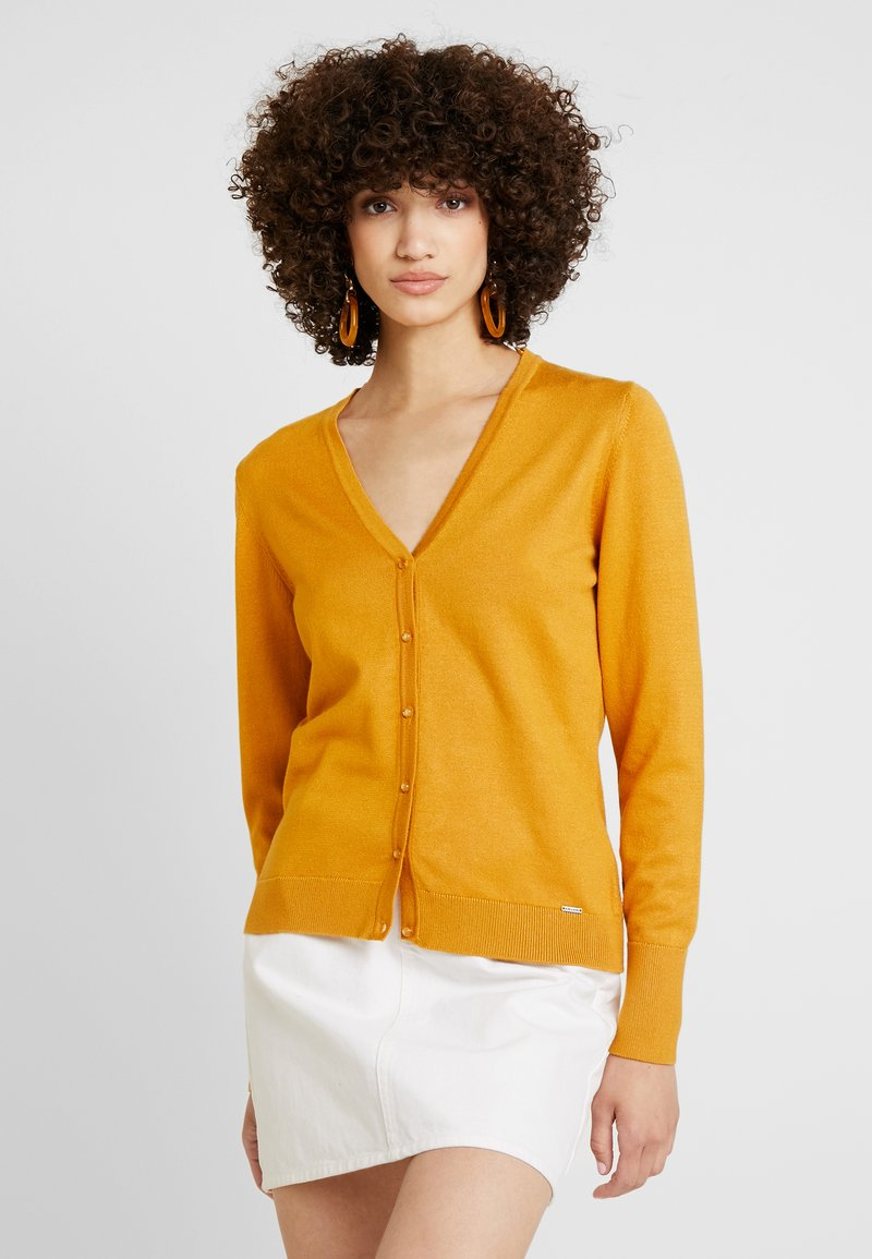 More & More - CARDIGAN - Chaqueta de punto - autumn yellow