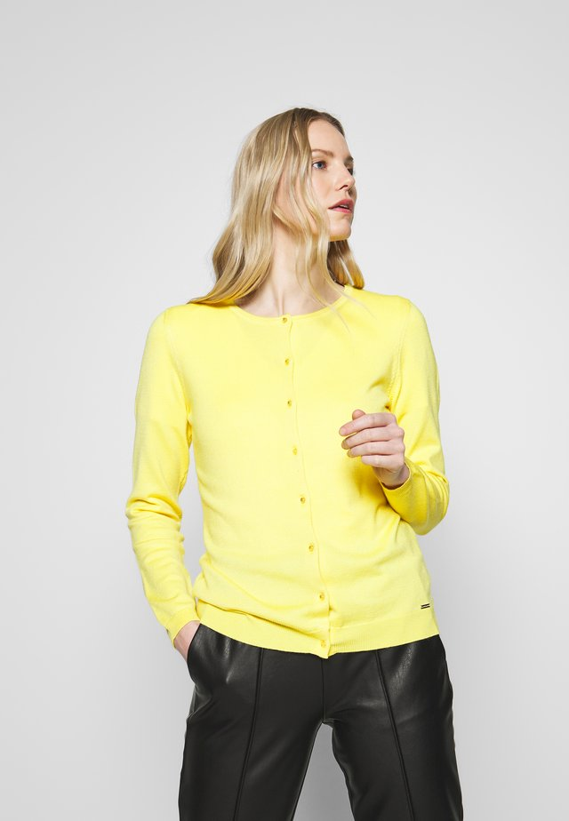 CARDIGAN - Strikjakke /Cardigans - light lemon