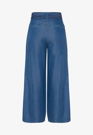 CULOTTE - Flared Jeans - blue denim