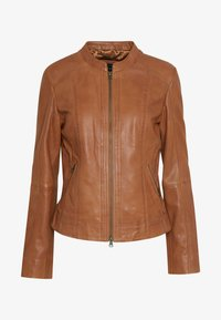 More & More - Leather jacket - nougat - 3