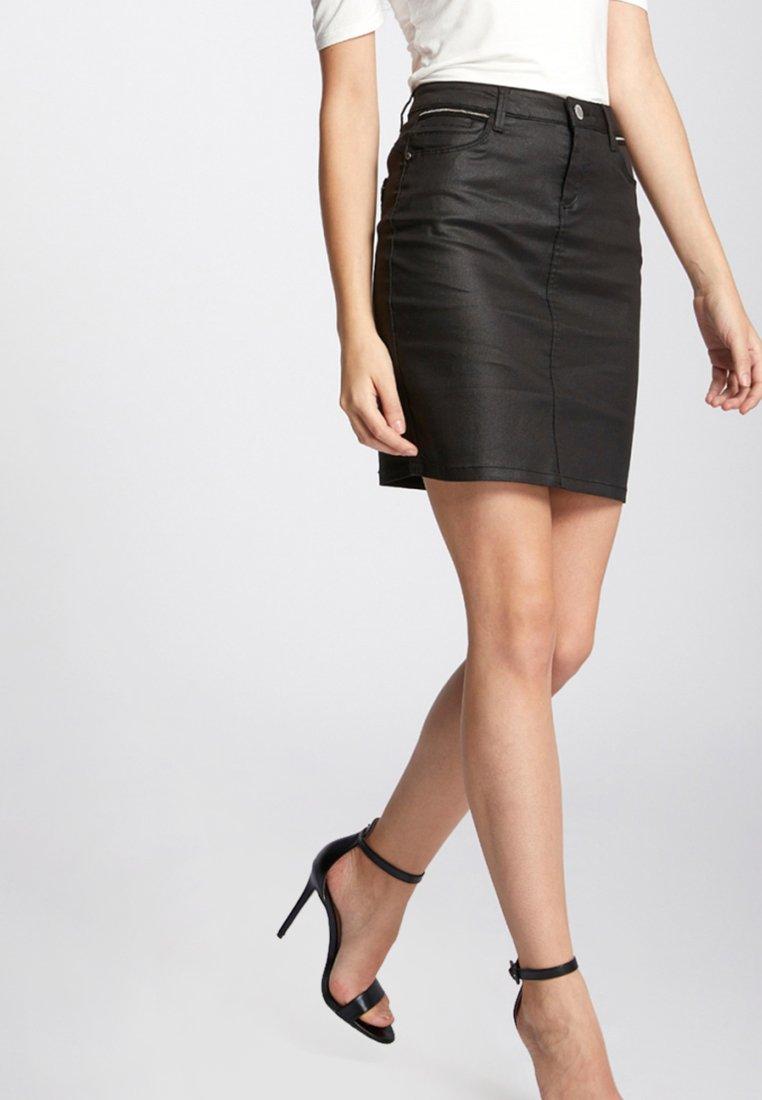Morgan - Denim skirt - black