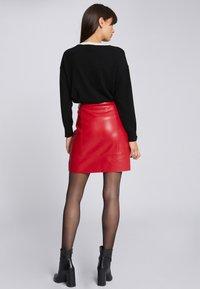 Morgan - A-lijn rok - dark red - 1