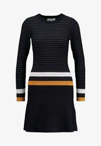 Morgan - Robe pull - marine/fauve - 3