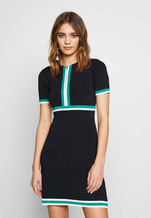 Pletené šaty - marine/vert