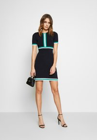 Morgan - Jumper dress - marine/vert - 1