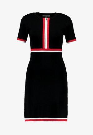 Gebreide jurk - noir/lipstick