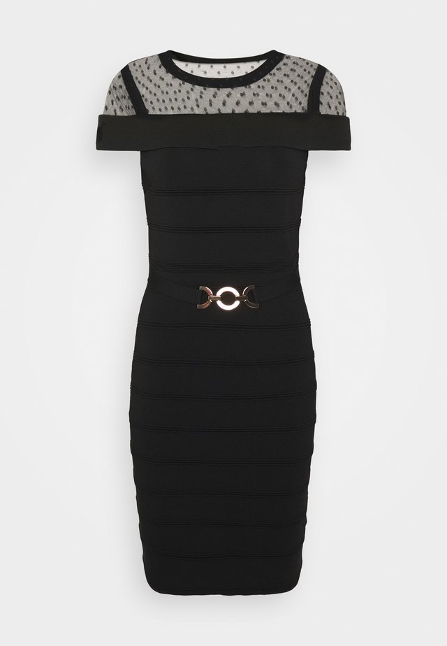 RMOLIA - Strikket kjole - noir
