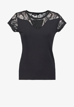 T-shirts med print - noir