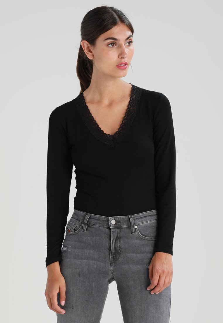 Morgan - Long sleeved top - noir