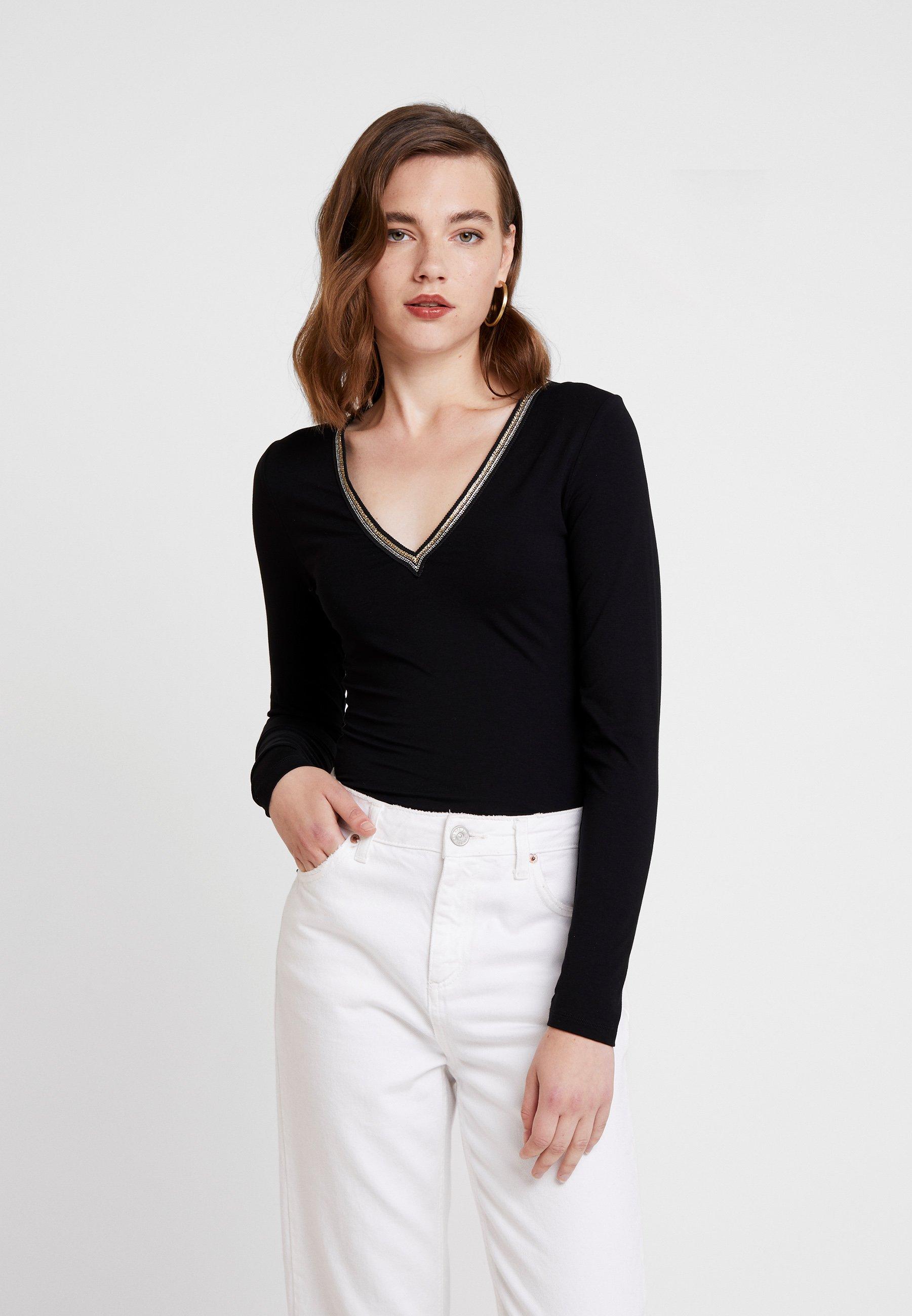 Longues shirt À Morgan Noir Manches TedoT NO8wyvm0n