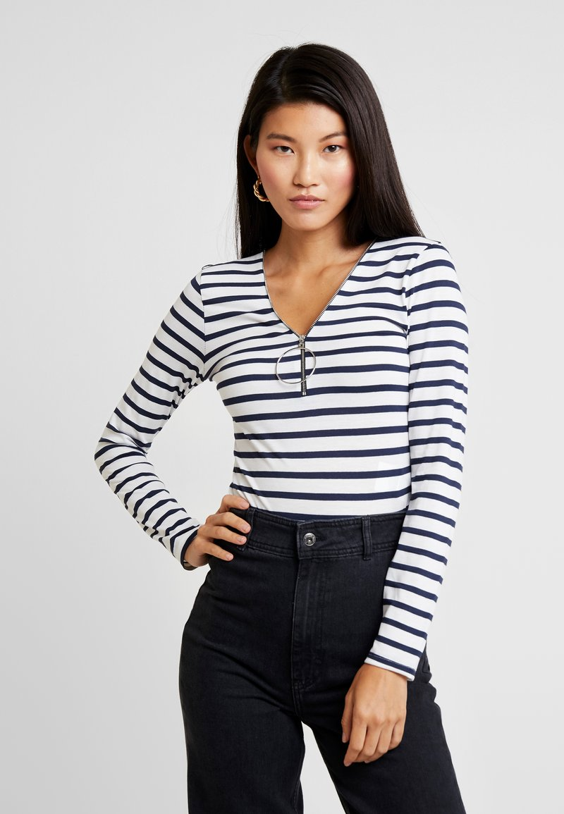 Morgan - TRAYU - T-shirt à manches longues - marine/off white