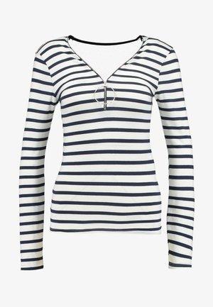 TRAYU - Långärmad tröja - marine/off white