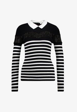 MANOR - T-shirt à manches longues - noir/off white