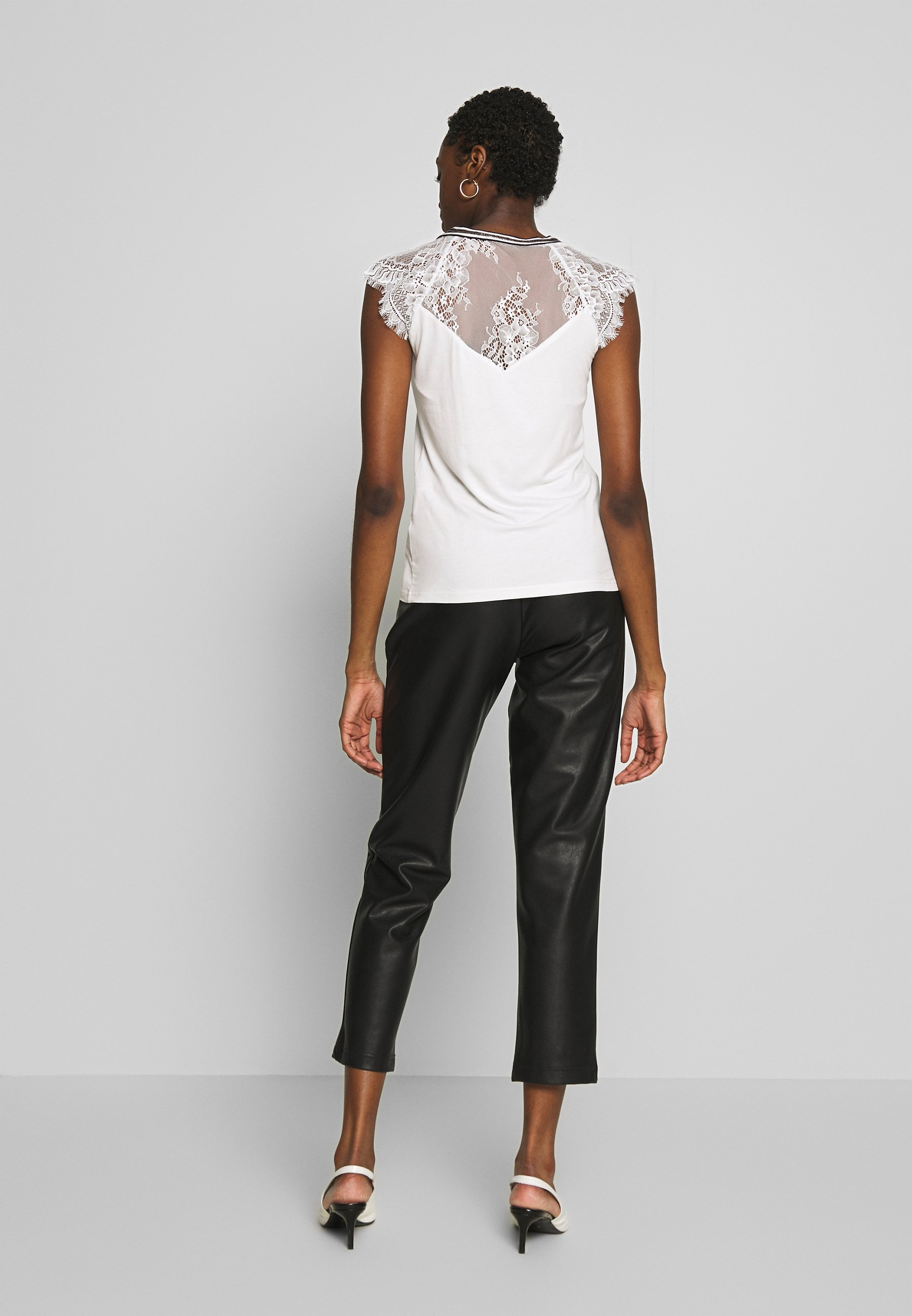 Morgan Derrie - T-shirt Med Print Off-white