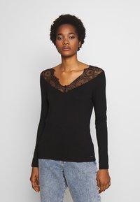 Morgan - TRACE - T-shirt à manches longues - noir - 0