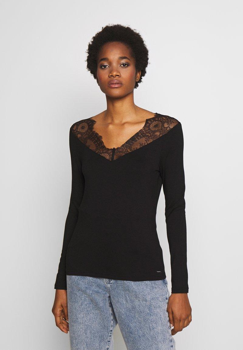 Morgan - TRACE - T-shirt à manches longues - noir