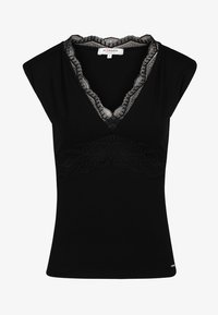 Morgan - WITH LACE DETAILS - T-shirt imprimé - black - 4