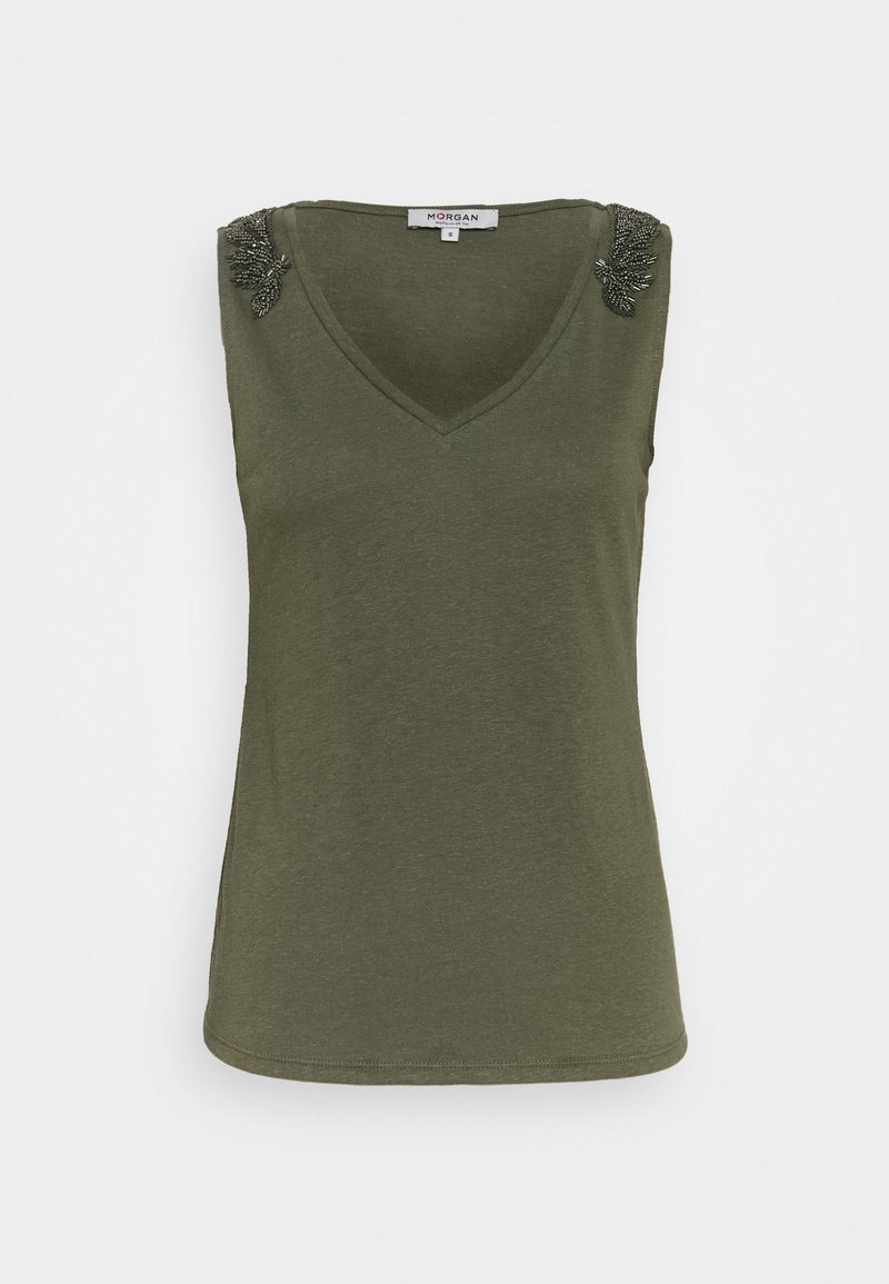 Morgan - T-shirt basique - thym