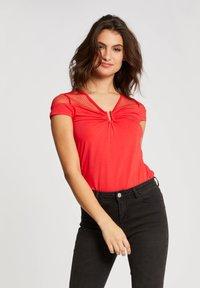 Morgan - DOBBY SPOT - Print T-shirt - red - 0