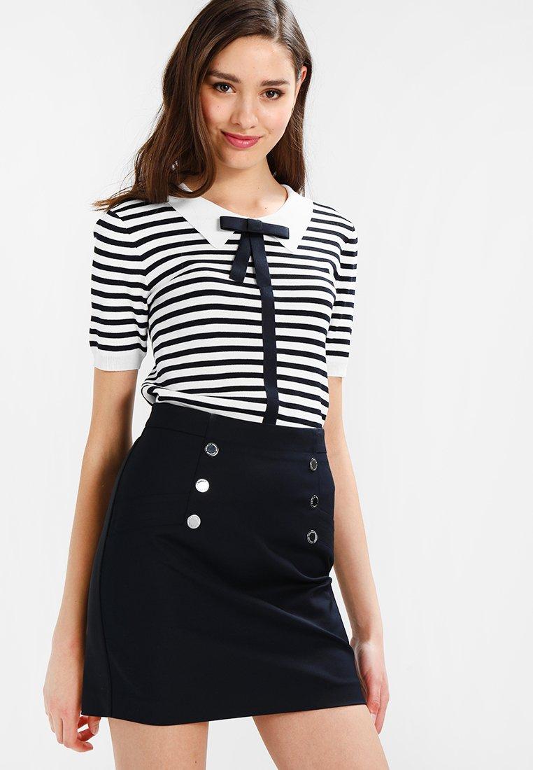 Morgan - MARINE - T-shirt imprimé - off white