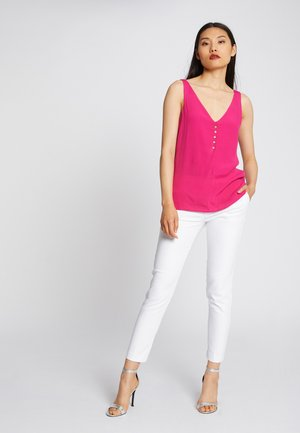 LARGE STRAPS WITH BUTTONS - Blouse - neon pink