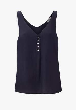 LARGE STRAPS WITH BUTTONS - Blouse - dark blue