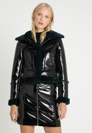 GLORA - Faux leather jacket - noir
