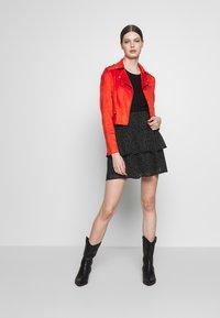 Morgan - GRAMMY - Faux leather jacket - papaye - 1