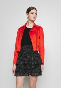 Morgan - GRAMMY - Faux leather jacket - papaye - 0