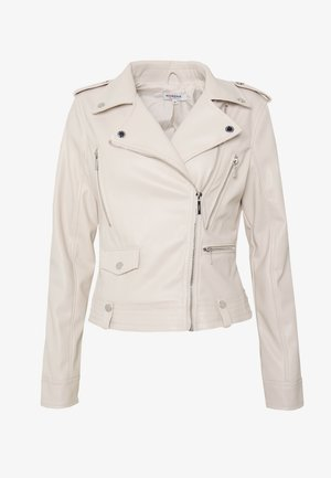GAMMA - Faux leather jacket - craie