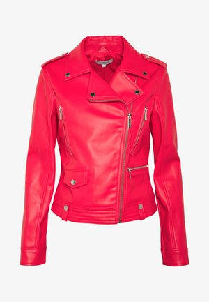 GAMMA - Faux leather jacket - groseille