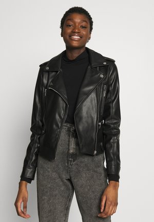 GAMMA - Faux leather jacket - noir
