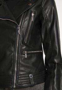Morgan - GAMMA - Veste en similicuir - noir - 6