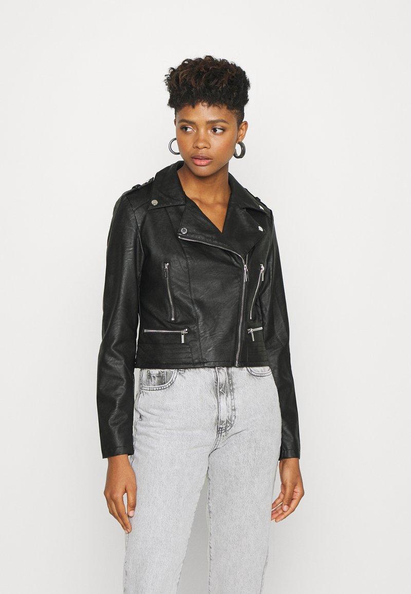 Morgan - GRAMMO - Imitatieleren jas - noir