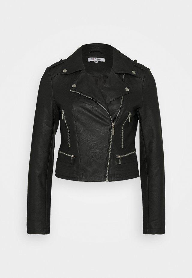 GRAMMO - Veste en similicuir - noir