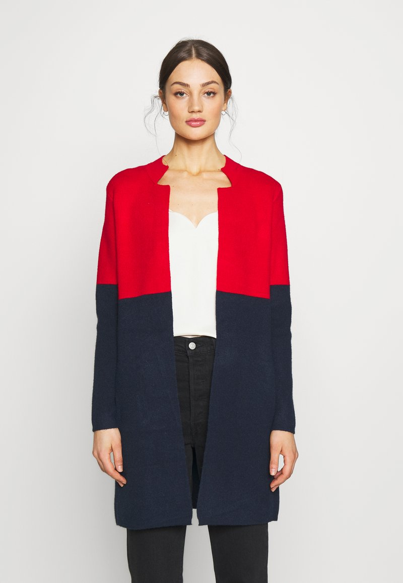 Morgan - BLOCK - Cardigan - rouge/marine