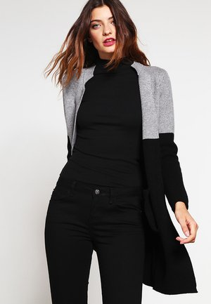 BLOCK - Strickjacke - noir/gris