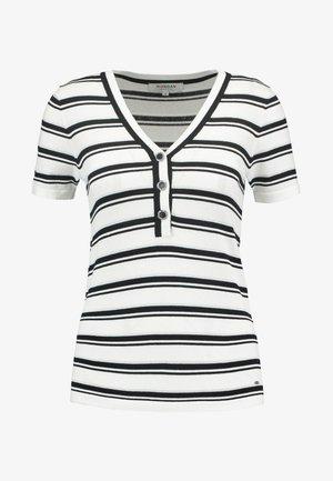 T-shirt imprimé - off white/noir