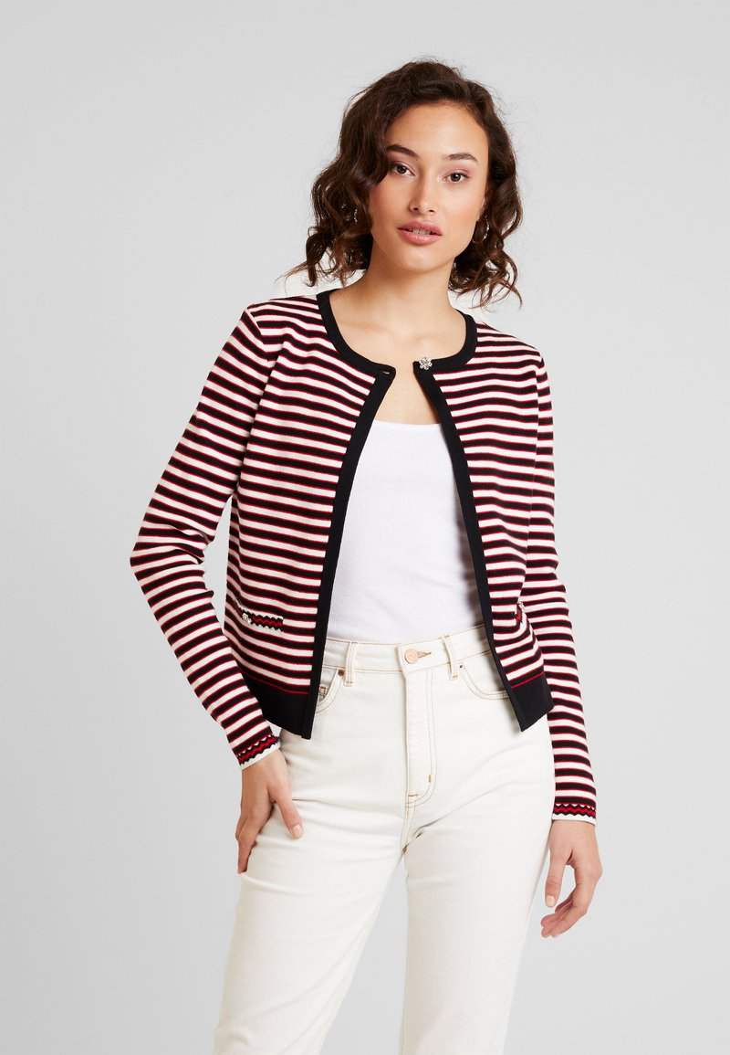 Morgan - Strickjacke - rouge/off white