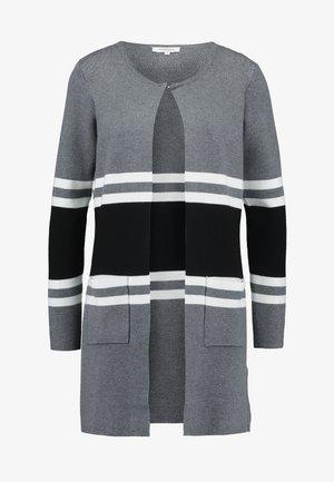 Cardigan - gris/noir