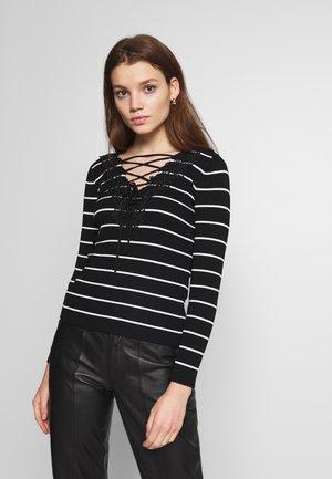 Pullover - noir/off white