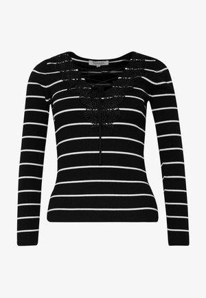 Jersey de punto - noir/off white