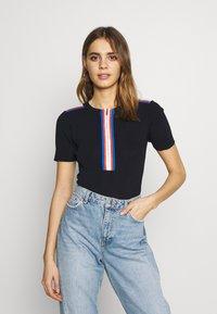 Morgan - T-shirt imprimé - marine - 0